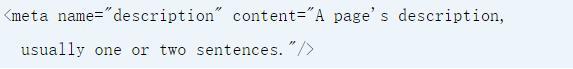 元描述HTML示例